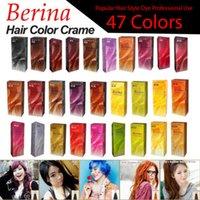 Wholesale BERINA Permanent Hair Unisex Colors Cream Hair Style Dye Professional Use