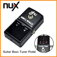 bass tuner pedal - NUX Strum Tuner Polyphonic Strum Pedal Tuner Electric Guitar Bass Tuning Pedal Multi String Guitar Pedal Tuner Via DHL