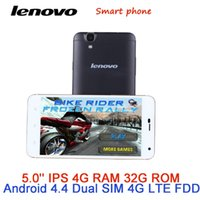 Wholesale Original Lenovo mobile phone MTK6592 Octa Core MP G RAM G ROM inch IPS Android cell phones G LTE FDD Smart phone
