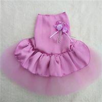 Pet собаки платье свадебное платье плюшевый щенок VIP сатин юбки балетной пачки для ребенка леди Пудель летний день красоты платье с 1 кнопкой на задней панели