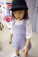Wholesale Girls Children Cotton Sweaters Skirts Kids Dresses Clothing Autumn Winter New Sleeveless Girl Dress Lovely Clothes