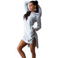 bell clothing line - 6 Colors Fashion Autumn Women Dress Elegant Cotton Sport Dresses Long Sleeve Pockets Casual Womens Clothing Plus Size vestidos