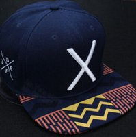 Wholesale 2014 new hot deep blue fashion baseball snapbacks hats and caps for men cool cotton adjustable sport hip pop cap X letter cheap