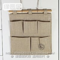 Wholesale Environmental pollution jute burlap wall debris storage Storage Bag Korean exports love home