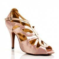 Wholesale Cheap Women Latin Dance Shoes Buckle Satin Ballroom Salsa Dancing Shoes Sneaker Jazz Women s Shoe sapato feminino Pink Red Black