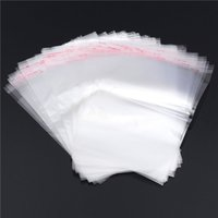 Wholesale 2016 New E4 Clear Resealable Cellophane BOPP Poly Bags x20cm Transparent Opp Bag Packing Plastic Bags Self Adhesive Seal