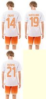 Wholesale Cheap Kit Series National Team Netherlands CRUYFF HUNTELAAR MEMPHIS Away Jerseys Football Jerseys