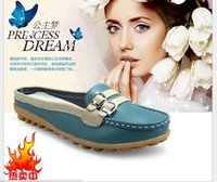 Wholesale Brand Women Shoes Sandals Genuine Leather Indoor House Ladies Slippers Fashion Mother Shoes Solid Casual Shoes