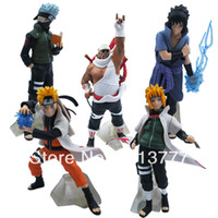 Wholesale New NARUTO Uzumaki Kakashi SASUKE cm cm PVC Figure Set Of
