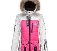 bogner - Europe station Bogner Bogner travel clothes female models hooded detachable ski suit jacket printing graphic