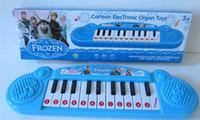 al por mayor music keyboard instrument-El mejor precio Instrumentos musicales juguete Congelado niña Cartoon electrónica órgano de juguete teclado electrónico bebé piano con música para niños