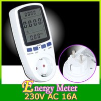 Wholesale EU Plug Power Watt Volt Amp Energy Meter Analyzer with Power Factor High Quality Hot Sale HK454