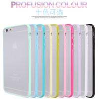 NOUVEAU LISTE Slim TPU Bumper Case Clear Soft Back pour iPhone7 7plus 6 6splus 5 / 5S Gel Silicone Cover