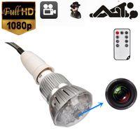 Wholesale WOW SPY HIDDEN LED Light Bulb Camera Mini DV Night Vision Voice Remote P