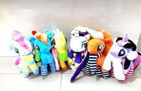 anime - My Little Pony Stuffed Animals Anime Plush Toys Dolls Cartoon Ponies Unicorn Cotton Doll Styles cm Toy For Kid Gifts