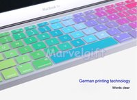 Wholesale Hot sell silica gel rainbow color soft keyboard guard cover protector for macbook air and macbook pro