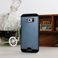 aluminium core - Hybrid Motomo Brushed Aluminium Metal PC Cover Case For iPhone S Samsung Galaxy S3 S4 Alpha Grand Core Prime Trend Core