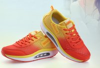 Wholesale 2014 New Hot Sale Womens Sports Shoes Net Mesh Ventilate Non Slip EVA Sole Leisure Light Weight Lace Closure Running Shoes Pairs