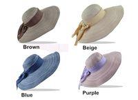 Wholesale Korean Version Collapsible Straw Hat Women Wide Brim Hat Beach Sun Hat Large Cotton Bowknot Hats Ladies Girls Outdoor Fashion Casual Hat