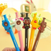 Wholesale 48pcs Cute Cartoon Ballpoint Pen Friends Blue Roller Pens Ballpen Material Escolar School Supplies Stationery V07