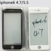 Cheap For iphone 6 4.7 Plus 5.5 Outer Glass Screen Replacement For ip5 5S Glass Touch Screen Cover Replacement Part Black White