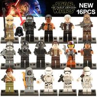 Wholesale Star War The First Order Finn Rey Chewbacca Rebel Stormtrooper Shadow Storm Trooper Minfigure Chindren Gift