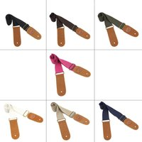 Wholesale IRIN Adjustable Belt Woven Cotton Guitar Strap with Leather Ends for Electric Acoustic Folk Guitars Comfortable and Durable I1150