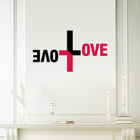 bible mural - Colorful Love God Wall Vinyl Sticker Cross Wall Decal Jesus Christ Psalm Pray Bible Bedroom Mural