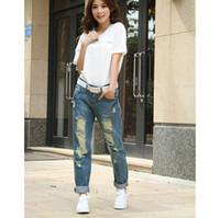 baggy jeans woman - Women Fashion Boyfriend Big Ripped Denim Jeans Haroun Baggy Pants Ladies Casual Plus Size Denim Pants