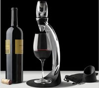 Wholesale TOP Deluxe Wine Aerator Tower Set Red Wine Glass Accessories Quick Magic Decanter With Gift Box set DHL