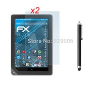 Cheap Wholesale-2pcs Anti-Glare Anti-Fingerprint Guard Matte Screen Protector + Stylus Pen For Barnes & Noble Nook HD+ 9'' Tablet Free