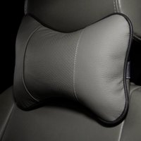 Wholesale Perforating Design pc leather Hole digging Car Headrest Supplies Neck Auto Safety Pillow Newest