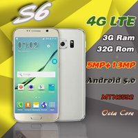 Wholesale goophone s6 smartphone GB RAM GB ROM octa core quot MTK6592 Android MP Metal Body Mobile phone s6 edge