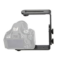 Cheap Universal Dual-L Camera Speedlite Flash Bracket Holder Mount For Canon 580EX II 580EX 550EX 540EZ 520EZ