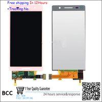 achat en gros de huawei ascend p6 rose-Gros-100% Original Blanc / Noir / Rose pour Huawei Ascend P6 LCD + écran tactile + Digitizer verre Assemblée P6S P6-U06 C00 T00 S-U06