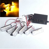 Wholesale Excellent Quality Universal Waterproof Yellow Amber LED Strobe Emergency Flashing Warning Light Lamp For Car