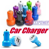 auto circuits - High Quality Auto Universal Dual USB Car Charger For IPad For IPhone6 Plus For Mobile Phone V A Short Circuit Protection