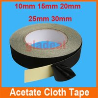 Wholesale 10mm mm mm mm mm m Black Acetate Cloth Tape Insulation Adhesive For iPhone Mobile LCD Touch Screen Tablet Electric Repair Tool