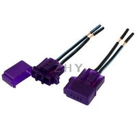 atc audio - Purple Plastic Shell Two Wired Audio Inline ATC Blade Fuse Holder for Car