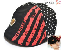 Wholesale children boys and girls striped beret cap child hat baby hat hat Spring tide