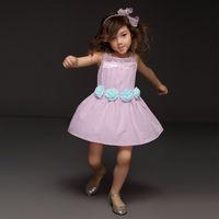 Wholesale Summer Fashion Girl Dress Cotton Sleeveless Flower Princess Casual Dress New Design Kids Outfits GD41207 Cheap