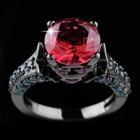 beautiful sapphire - Hot Sale Jewelry Brand New Beautiful Ruby Sapphire KT White Gold Filled Ring For Women Gift