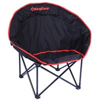 Wholesale Fashion Leisure Moon Folding Chair Kingcamp Portable Beach Chairs Comfortable Camping Fishing Chairs order lt no track