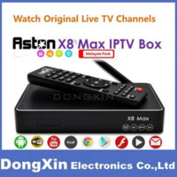 Caja de la caja superior TV Receptores Set Aston X8 Max 4K Android IPTV cuadro de Malasia ver Singapur Malasia Astro Ver TV en vivo