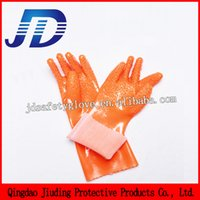 working leather gloves - Hand gloves manufacturers in china oil and gas resitant pvc coated leather working gloves for free samples