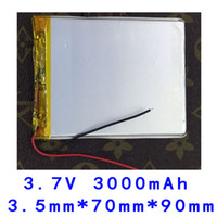 Wholesale high capacity V lithium polymer battery mah Tablet PC MP5 E book PDA power bank rechargeable battery