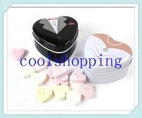 Cheap DHL Freeshipping 200pcs Bride groom Mint tin wedding favor box dressed to the nines wedding candy box