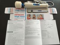 Wholesale Speed Magic Wand Massager With Hitachi Head AV Vibrator Magic Wand HandHeld Massager Colors box
