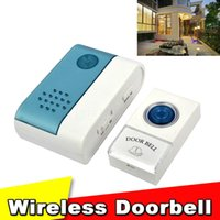 Wholesale 2015 Hot Portable Wireless Remote Control Doorbell Ring Tones Chime Alarm Cordless Door Bell With Remote Controller Controler