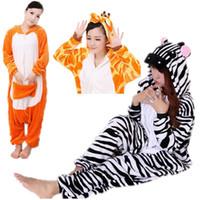 animal onesies australia - New Zebra Giraffe Australia Kangaroo Cosplay Adult Animal Costume Jumpsuit Playsuit Overalls Onesies Pyjamas Pajama Sleepwear